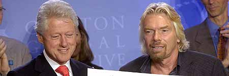 Bill Clinton y Richard Branson