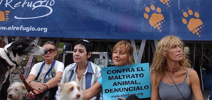 Algunos de los participantes en la protesta de Madrid
