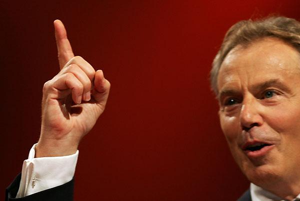 Blair durante su último discurso oficial ante los laboristas