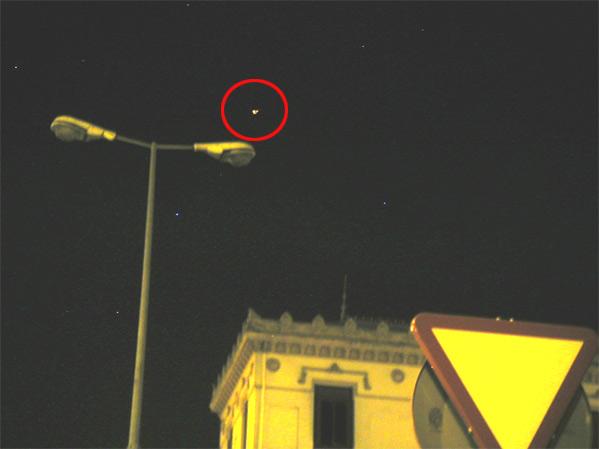 Imagen del objeto no identificado en Granada (imagen servida por un lector).