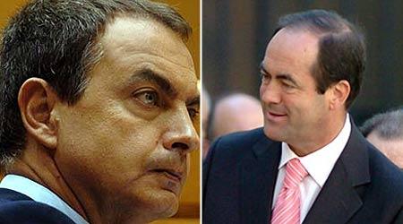 José Luis Rodríguez Zapatero y José Bono
