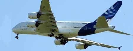 El Airbus A380, uno de los aparatos del fabricante de aviones