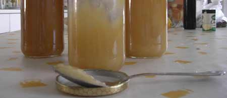 Miel en cocina