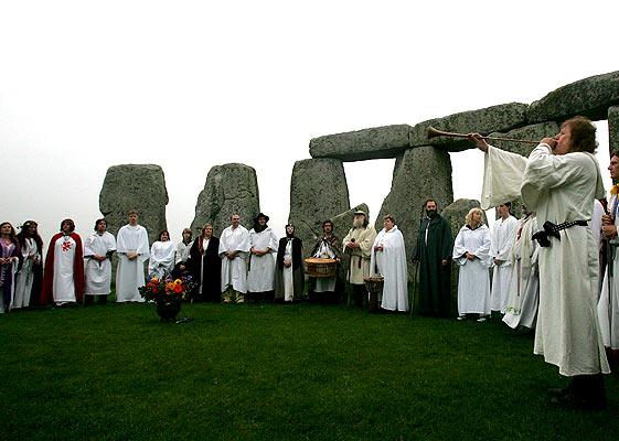 Celebración de Halloween en Stonehenge