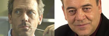 Hugh Laurie (el dr. House) y Tito Valverde (el comisario Castilla)
