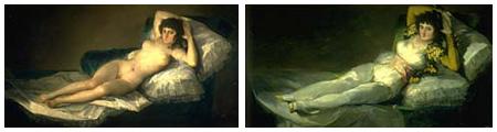 Maja desnuda y Maja vestida, de Goya