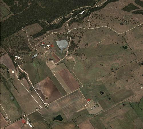 El rancho de Bush en Google Maps