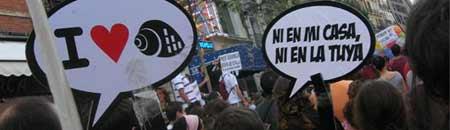 Manifestación por una vivienda digna (Foto: D. Casado)