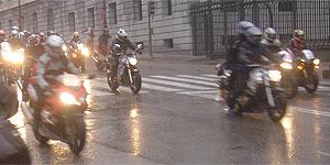 Paso de la manifestación por las calles de Madrid