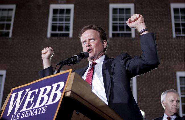Jim Webb, candidato demócrata por el estado de Virginia.