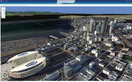 Seatlle desde el Virtual Earth 3D de Microsoft. (News)