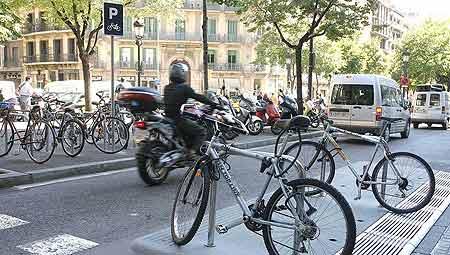 Aparcamiento bicicletas en Barcelona