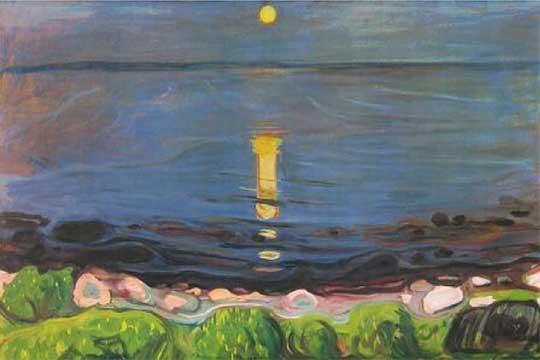 Munch y su paisaje en la playa