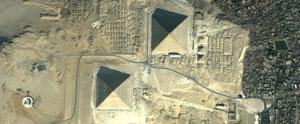 Las Pirámides de Egipto vistas desde un satélite