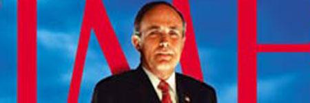 Su gestión tras los atentados del 11-S, le valió a Giuliani ser nombrado 'personaje del año 2001' por la revista Time.