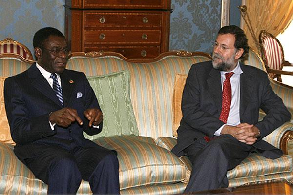 Rajoy con Obiang