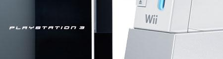 La PlayStation 3 (izq.) y la Wii (dcha.).