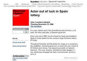 Arrindell, el 'calvo' de la lotería