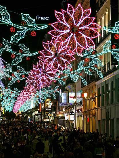 Luces de Navidad en la calle Preciados
