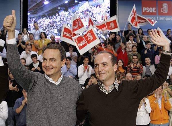 José Luis Rodríguez Zapatero y Miguel Sebastián