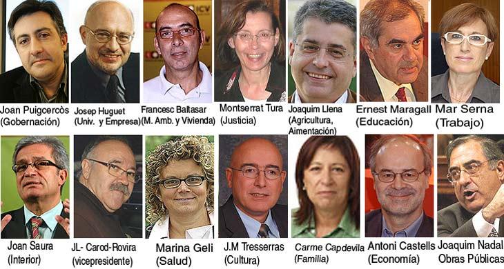 Composición del nuevo Gobierno de la Generalitat