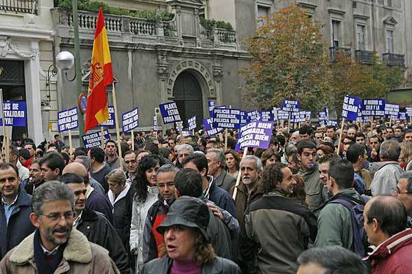 Manifestación de policías nacionales