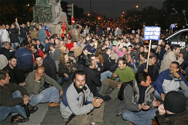 Manifestación de policías en Madrid
