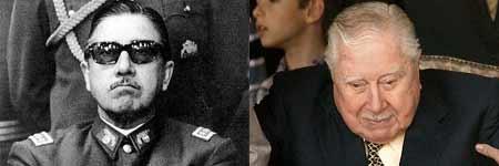 Pinochet en los años sesenta (izq.) y en una imagen reciente (dcha.).