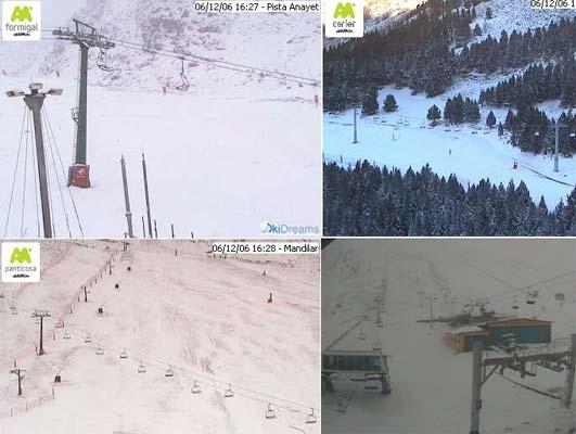 Estaciones de esquí: Formigal, Cerler, Panticosa y Candanchú