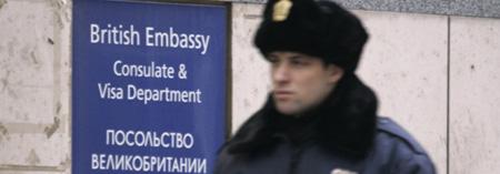 La embajada británica en Moscú, contaminada