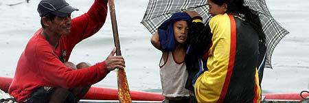 Llegada del tifón a Filipinas
