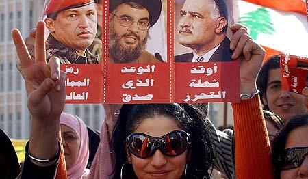 Manifestaciones de la oposición en Beirut.