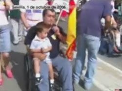 Joaquín Merino, en la manifestación de la AVT