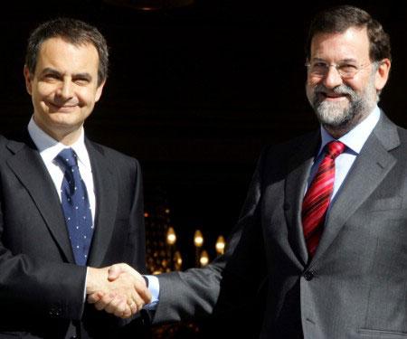 La última vez que Zapatero se entrevistó con Rajoy fue el pasado 28 de marzo. (Reuters)