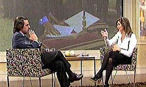 Aznar y Ana Rosa, durante la entrevista.