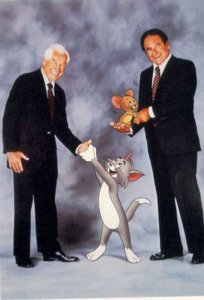 William Hanna y Joseph Barbera (d). (ARCHIVO)