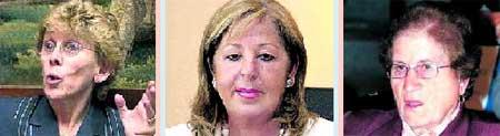 De iz a dcha: Cristina Barrios, Adelaida de la Calle Martín y Laurentina Alonso Nieto, mujeres con poder