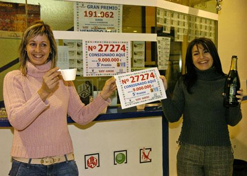 Las empleadas de la administración de lotería nº 1 de Utebo