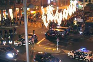 Disturbios en la marcha por la vivienda digna de Madrid