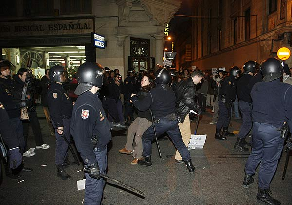 Disturbios en la manifestación por una vivienda digna