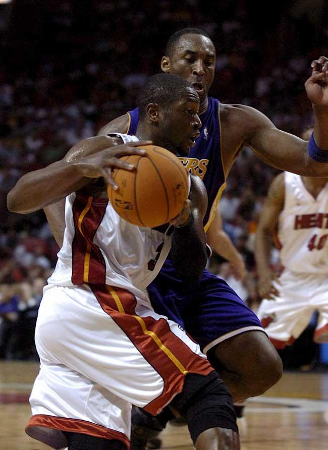 Wade frente a Kobe Bryant