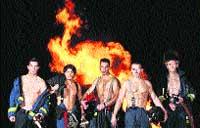 Calendario con bomberos