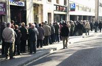 Fiebre por la lotería en la Rambla