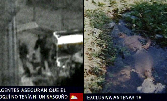 Traslado de un marroquí a través de la valla de Ceuta (ANTENA 3 TV).
