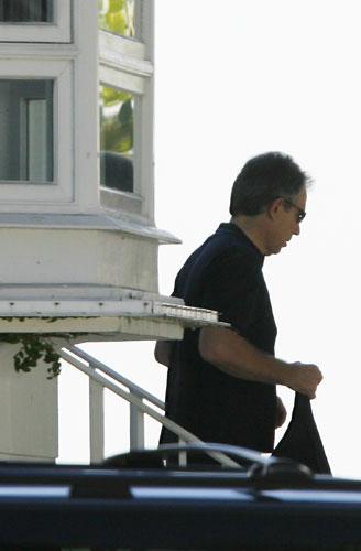 Tony Blair en casa de su admirado Robin Gibb