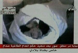 El cuerpo de Sadam