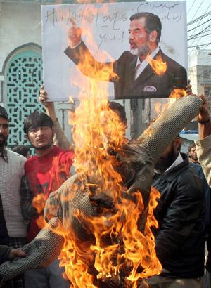 Lloros por la muerte de Sadam