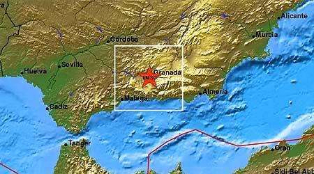 Lugar del terremoto granadino