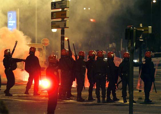 Disturbios en San Sebastián