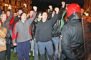 Manifestantes en Anoeta